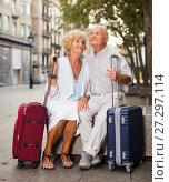 Купить «Mature spouses enjoying joint vacation», фото № 27297114, снято 27 августа 2017 г. (c) Яков Филимонов / Фотобанк Лори