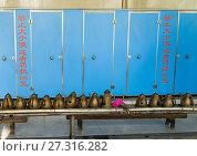 Washing place for muslim ablutions in Mingde Gong Bei mosque, Gansu province, Linxia, China. Стоковое фото, фотограф Eric Lafforgue / age Fotostock / Фотобанк Лори