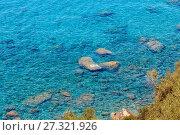Купить «Tyrrhenian sea landscape, Campania, Italy», фото № 27321926, снято 21 июня 2017 г. (c) Юрий Брыкайло / Фотобанк Лори