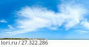 Купить «Blue sky background.», фото № 27322286, снято 16 июля 2019 г. (c) Юрий Брыкайло / Фотобанк Лори