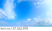 Купить «Blue sky background.», фото № 27322970, снято 16 июля 2019 г. (c) Юрий Брыкайло / Фотобанк Лори