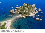 Купить «Taormina Isola Bella islet, Sicily», фото № 27323610, снято 11 июня 2017 г. (c) Юрий Брыкайло / Фотобанк Лори