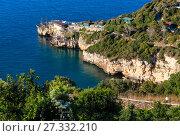 Sea cape Trabucco di Monte Pucci view, Italy (2017 год). Стоковое фото, фотограф Юрий Брыкайло / Фотобанк Лори
