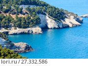 Summer coast Cala di Porto Greco, Gargano, Puglia, Italy (2017 год). Стоковое фото, фотограф Юрий Брыкайло / Фотобанк Лори
