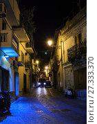 Купить «Night Stilo village, Calabria, Italy.», фото № 27333370, снято 10 июня 2017 г. (c) Юрий Брыкайло / Фотобанк Лори