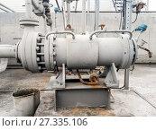 Купить «The pump for pumping of oil and products», фото № 27335106, снято 20 апреля 2015 г. (c) Леонид Еремейчук / Фотобанк Лори