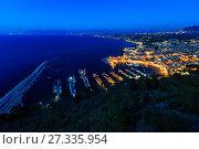 Купить «Castellammare del Golfo sea bay, Sicily, Italy», фото № 27335954, снято 15 июня 2017 г. (c) Юрий Брыкайло / Фотобанк Лори