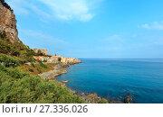 Купить «Cefalu coast view Sicily, Italy», фото № 27336026, снято 18 июня 2017 г. (c) Юрий Брыкайло / Фотобанк Лори