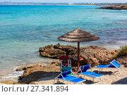 Купить «Beach Punta della Suina, Salento, Italy», фото № 27341894, снято 8 июня 2017 г. (c) Юрий Брыкайло / Фотобанк Лори