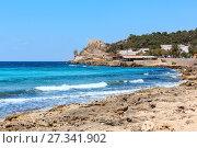 Купить «Beach Montagna Spaccata, Salento, Italy», фото № 27341902, снято 8 июня 2017 г. (c) Юрий Брыкайло / Фотобанк Лори