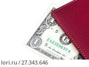 Купить «Notebook with dollars on a white background», фото № 27343646, снято 12 апреля 2015 г. (c) Евгений Ткачёв / Фотобанк Лори