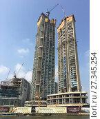 Купить «Construction in Bangkok», фото № 27345254, снято 12 декабря 2017 г. (c) Александр Подшивалов / Фотобанк Лори