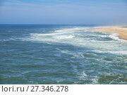 Купить «View on Nazare atlantic coast and beach in Portugal», фото № 27346278, снято 26 июня 2016 г. (c) Serg Zastavkin / Фотобанк Лори