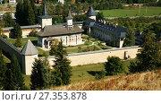 Купить «Image of Sucevita Monastery on Bucovina in Romania.», видеоролик № 27353878, снято 7 октября 2017 г. (c) Яков Филимонов / Фотобанк Лори
