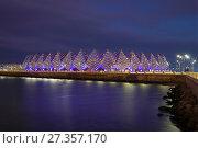 Купить «Вид на спортивно-концертный комплекс «Baku Crystal Hall» декабрьским вечером. Баку», фото № 27357170, снято 29 декабря 2017 г. (c) Виктор Карасев / Фотобанк Лори