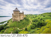 Купить «Northern Tower of Khotyn Fortress, located on the bank of Dnister River in Chernivtsi Oblast of western Ukraine.», фото № 27359470, снято 13 июня 2017 г. (c) easy Fotostock / Фотобанк Лори