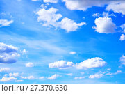 Купить «Dramatic cloudy sky clouds - natural sky background», фото № 27370630, снято 25 апреля 2015 г. (c) Зезелина Марина / Фотобанк Лори