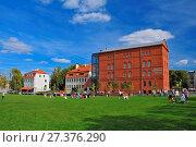 Купить «The Red Granary on the Mill Island, now the District Museum. Bydgoszcz, Kuyavian-Pomeranian Voivodeship, Poland.», фото № 27376290, снято 21 июля 2019 г. (c) age Fotostock / Фотобанк Лори