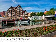 Купить «View at the granaries. Bydgoszcz, Kuyavian-Pomeranian Voivodeship, Poland.», фото № 27376890, снято 21 июля 2019 г. (c) age Fotostock / Фотобанк Лори