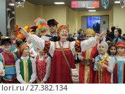 Балашиха, выступление в фойе Ледового дворца на губернаторской ёлке 2018. Редакционное фото, фотограф Дмитрий Неумоин / Фотобанк Лори