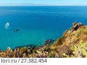Купить «Tyrrhenian sea landscape, Calabria, Italy», фото № 27382454, снято 19 июня 2017 г. (c) Юрий Брыкайло / Фотобанк Лори