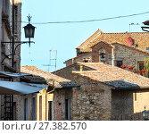 Купить «Montepulciano street, Tuscany, Italy», фото № 27382570, снято 23 июня 2017 г. (c) Юрий Брыкайло / Фотобанк Лори