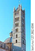 Купить «Siena Cathedral bell tower, Tuscany, Italy», фото № 27382694, снято 23 июня 2017 г. (c) Юрий Брыкайло / Фотобанк Лори
