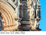 Купить «Siena Cathedral facade, Tuscany, Italy», фото № 27382702, снято 23 июня 2017 г. (c) Юрий Брыкайло / Фотобанк Лори