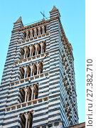 Купить «Siena Cathedral bell tower, Tuscany, Italy», фото № 27382710, снято 23 июня 2017 г. (c) Юрий Брыкайло / Фотобанк Лори
