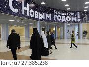 Балашиха, люди на губернаторской ёлке 2018 года. Редакционное фото, фотограф Дмитрий Неумоин / Фотобанк Лори