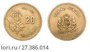 Купить «Coin 20 centimes. Kingdom of Morocco. year 1987», фото № 27386014, снято 22 января 2016 г. (c) Евгений Ткачёв / Фотобанк Лори