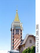 Купить «Clock Tower in the center of Batumi», фото № 27386386, снято 10 июля 2013 г. (c) Евгений Ткачёв / Фотобанк Лори
