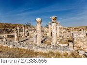 Купить «Руины византийской церкви в древней крепости Аммана, Иордания», фото № 27388666, снято 5 ноября 2016 г. (c) Наталья Волкова / Фотобанк Лори