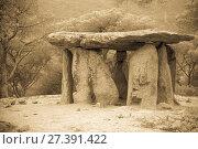 Купить «Dolmen de Pedra Gentil», фото № 27391422, снято 9 октября 2016 г. (c) Яков Филимонов / Фотобанк Лори