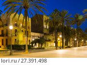 Купить «Evening view of Rambla. Badalona, Spain», фото № 27391498, снято 15 августа 2018 г. (c) Яков Филимонов / Фотобанк Лори