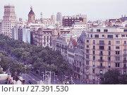 Architecture of Passeig de Gracia in summer day, Barcelona (2017 год). Стоковое фото, фотограф Яков Филимонов / Фотобанк Лори