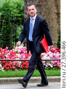 Купить «Cabinet members arrive at 10 Downing Street for David Cameron's final meeting before he leaves the Prime Minister's office Featuring: Alun Cairns Where...», фото № 27396466, снято 12 июля 2016 г. (c) age Fotostock / Фотобанк Лори