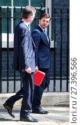 Купить «Cabinet members leave at 10 Downing Street after David Cameron's final meeting before he leaves the Prime Minister's office Featuring: Greg Clark, Stephen...», фото № 27396566, снято 12 июля 2016 г. (c) age Fotostock / Фотобанк Лори