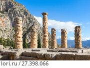 Купить «Храм Аполлона, Дельфы, Греция», фото № 27398066, снято 2 января 2018 г. (c) Ирина Яровая / Фотобанк Лори