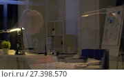 Купить «woman with papers working at night office», видеоролик № 27398570, снято 14 декабря 2017 г. (c) Syda Productions / Фотобанк Лори