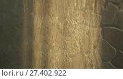 Купить «Artificial waterfall on the background of stone wall stock footage video», видеоролик № 27402922, снято 14 января 2018 г. (c) Юлия Машкова / Фотобанк Лори