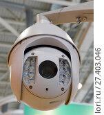 Наружная камера видеонаблюдения (2015 год). Редакционное фото, фотограф Free Wind / Фотобанк Лори