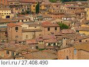 Купить «Над крышами старого города. Сиена, Италия», фото № 27408490, снято 24 сентября 2017 г. (c) Виктор Карасев / Фотобанк Лори