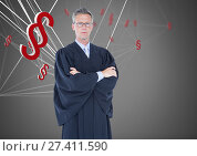Купить «3D Section symbol icons and judge», фото № 27411590, снято 21 января 2020 г. (c) Wavebreak Media / Фотобанк Лори