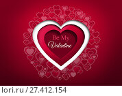 Купить «Valentines day design with hearts», фото № 27412154, снято 19 октября 2018 г. (c) Wavebreak Media / Фотобанк Лори