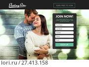 Купить «Subscription form on dating site », фото № 27413158, снято 17 декабря 2018 г. (c) Wavebreak Media / Фотобанк Лори