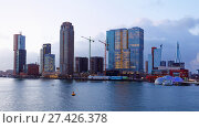 Купить «Cityscape of Rotterdam, Netherlands», фото № 27426378, снято 5 января 2017 г. (c) Stockphoto / Фотобанк Лори