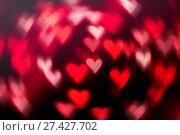 Купить «St Valentines Day red heart bokeh background», фото № 27427702, снято 13 января 2017 г. (c) Зезелина Марина / Фотобанк Лори