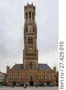 Купить «Belfry of Bruges, Belgium», фото № 27429010, снято 22 апреля 2016 г. (c) Boris Breytman / Фотобанк Лори