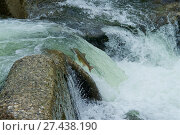 Купить «Freshwater Rivers. Atlantic Salmon (Salmo salar) adult leaps up falls along the Sella river while migrating upstream from salt water of Atlantic Ocean...», фото № 27438190, снято 17 ноября 2013 г. (c) age Fotostock / Фотобанк Лори